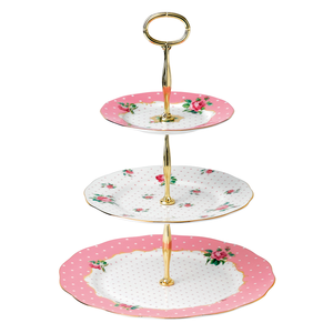 Royal Albert Cheeky Pink 3 Tier Cake Stand
