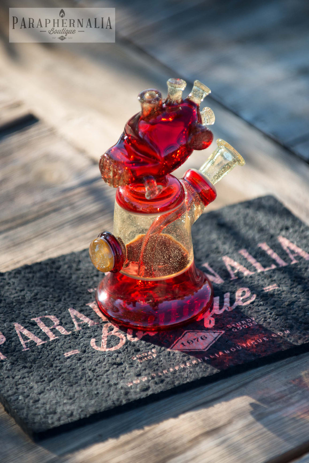 HicDogg Anunnaki Alien Astronaut Space Jammer Heady Rigs - Pomegranate, Caramel, and CFL Syzygy - Headies
