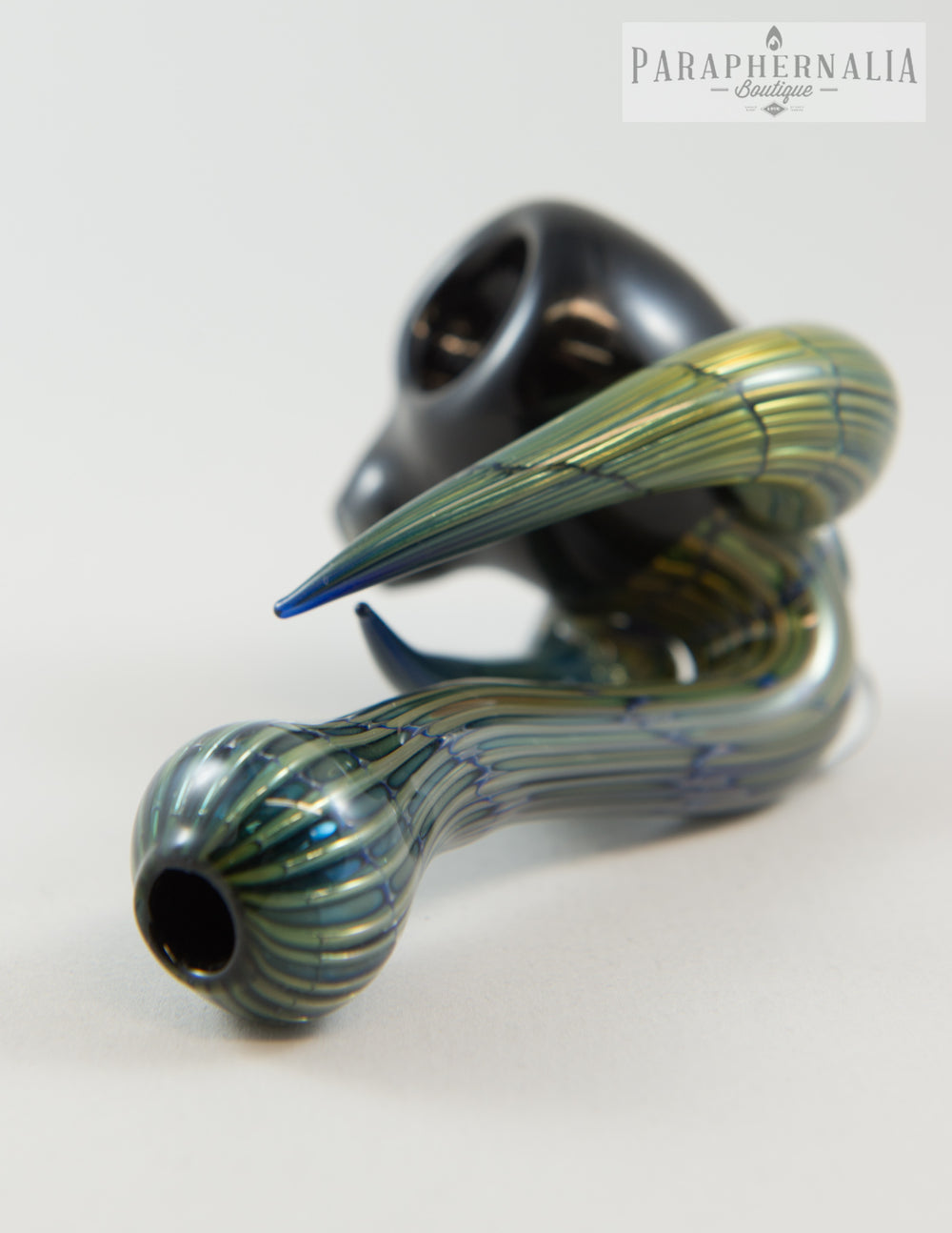 Styles Torchlife Glass Metal Tech Fume Horn Sherlock Hand Pipe - Headies