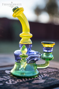 Huffy Glass Encalmo Rigs w/ UV Illuminati Accents - Headies
