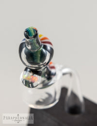 Tesla Glass AZ Dual Sided Linework w/ Opal Coil Carb Cap - Headies