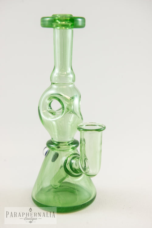 Billy the Kid Glass Oscar the Grouch Green Triple Donut Rigs - Headies