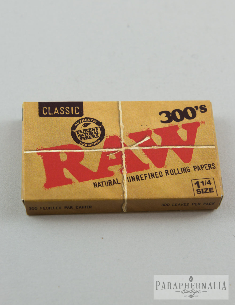 RAW Classic 300's 1 1/4 Natural Unrefined Creaseless Rolling Papers - 300 Pack