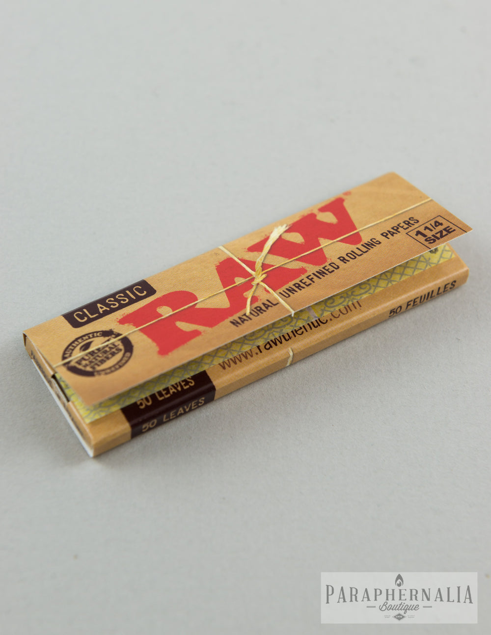 RAW Classic 1 1/4 Natural Unrefined Rolling Papers - 50 Per Pack