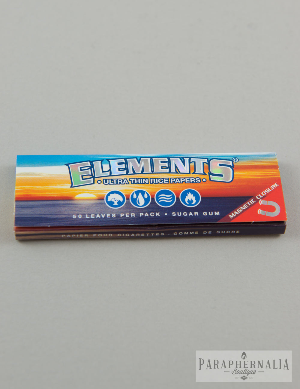 Elements 1 1/4 Ultra Thin Rice Papers - 50 Per Pack - Rolling Supplies