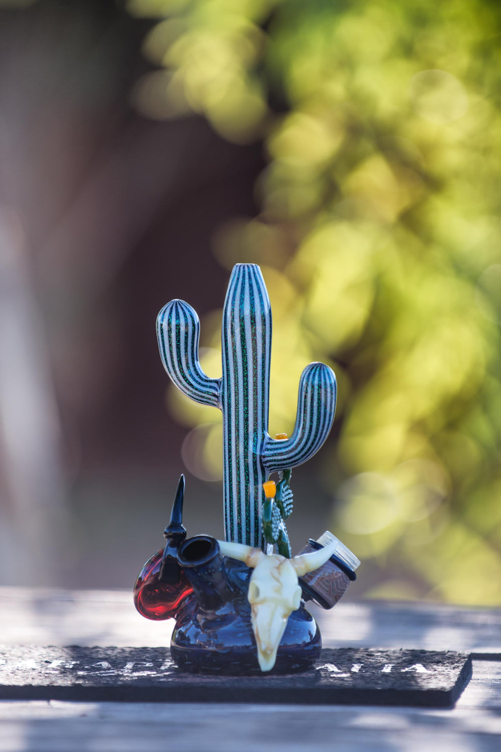 HicDogg X Steve H. Glass Arizona Landscape Glow In The Dark Rigs w/ Pick-Axe Dabber - Headies