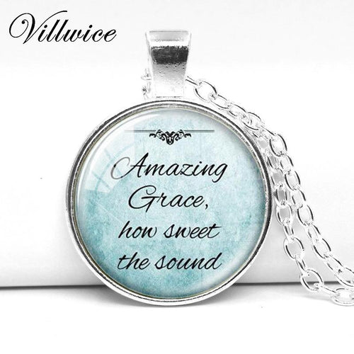 Christian Jewelry Inspirational Necklace Silver Chain