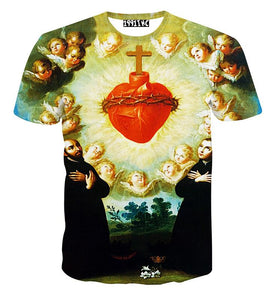 Women Fashion Clothing T-Shirt Sacred Heart of Jesus