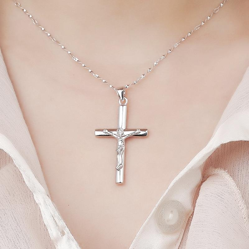 Jesus Christ Cross Pendant for Women - Minimalist