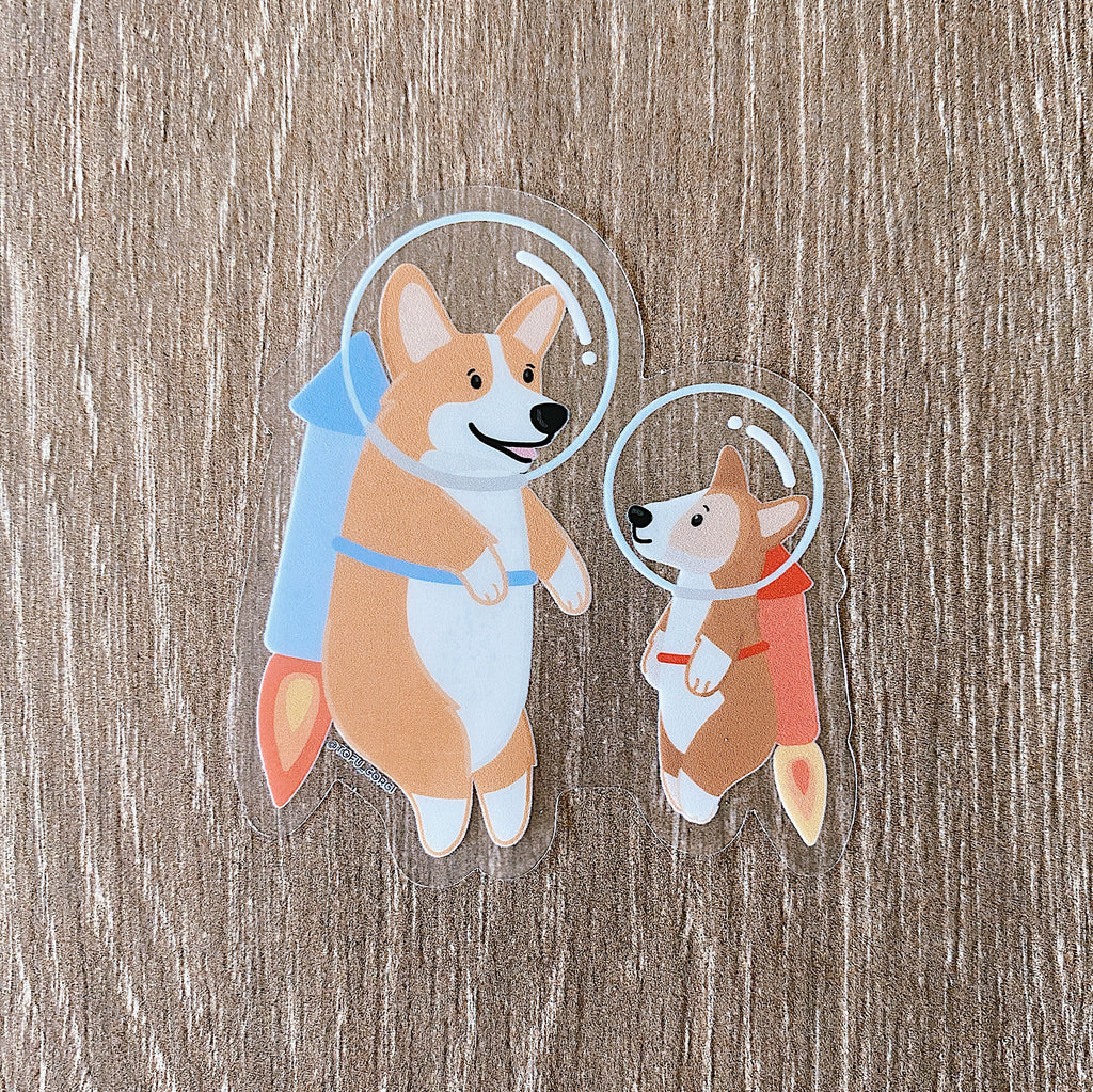 Tofu & Boshi Clear Space Sticker