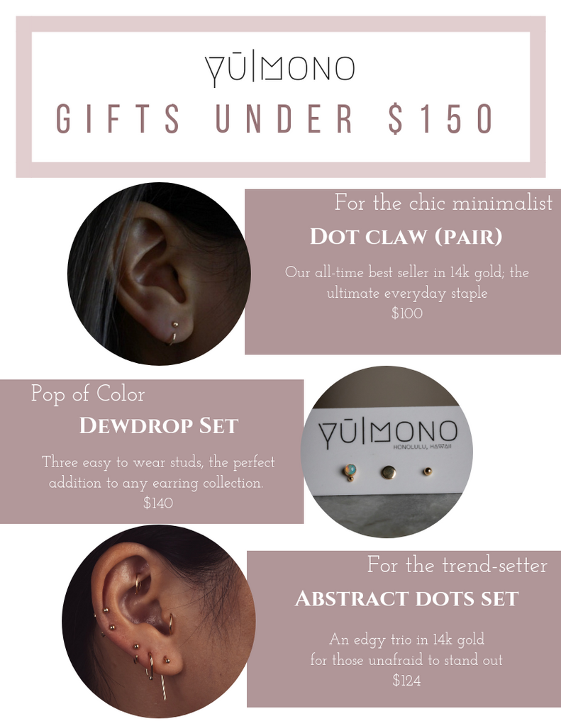 holiday shopping jewelry gift guide under $150