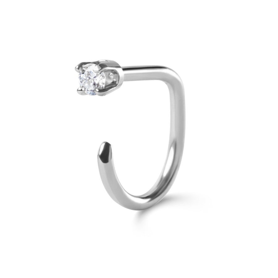 Diamond Claw, 14k White Gold