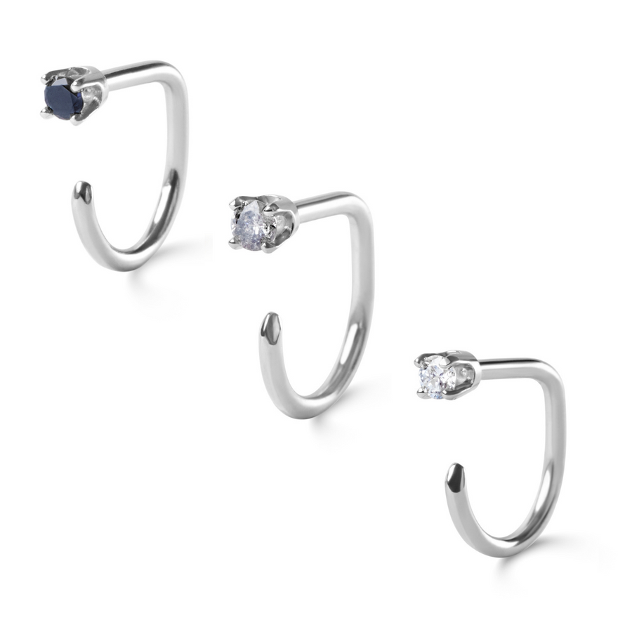 Ombre Diamond Claw Set, 14k White Gold