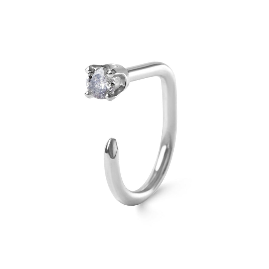 Grey Diamond Claw, 14k White Gold
