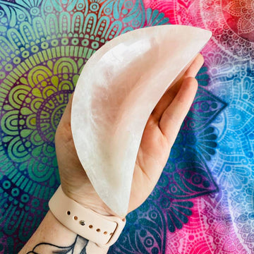 Rose Quartz Crescent Moon