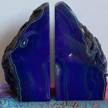 Agate Bookend Set Purple