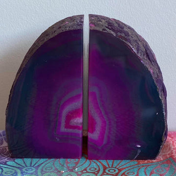Agate Bookend Set Pink