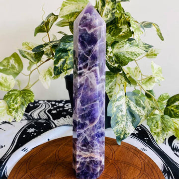 Banded Amethyst Tower