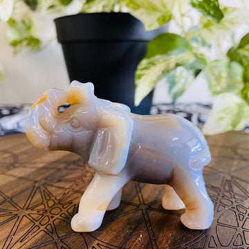 Agate Elephant Carving