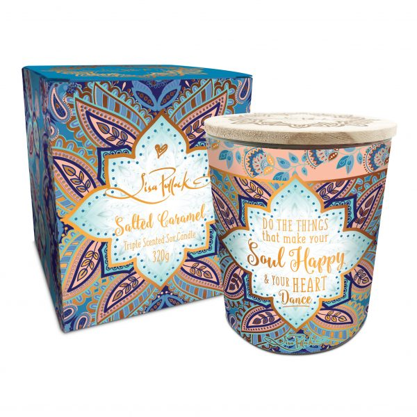 Soul Happy Salted Caramel Triple Scented Soy Candle