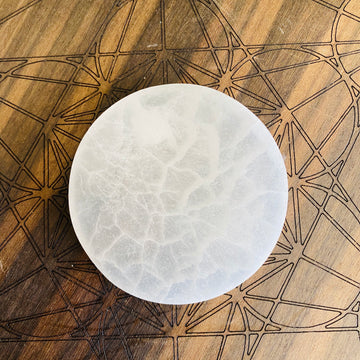 Selenite Charging Plate - Round Small