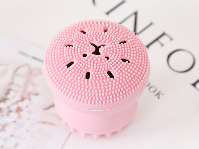 Silicone Face Cleansing Brush Facial Pore Cleaner Exfoliator Face Scrub Washing