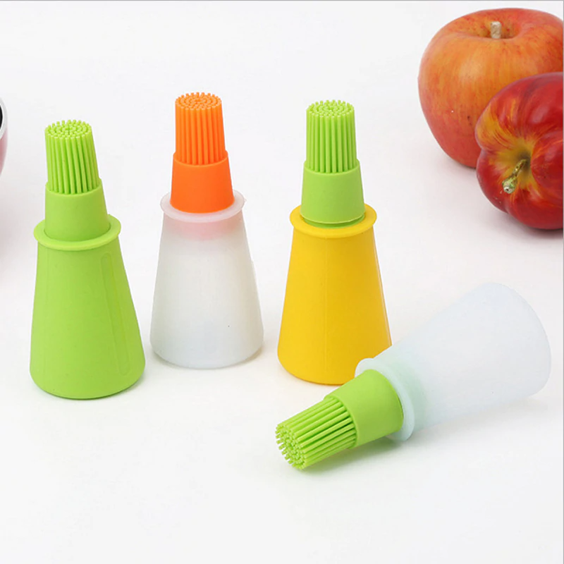 Kitchen Tools Silicone Rubber Oil Dispenser Bottle Brush Basting BBQ Cooking Baking Pancake
