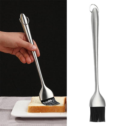 Silicone Brushes Stainless Steel Straight Handle Heat Resistance Kitchen Household Oil Cream Sauce