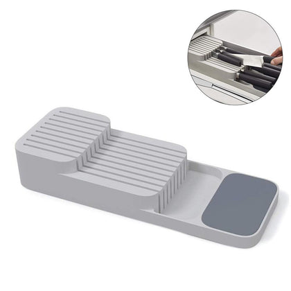 Double-layer Cutlery Drawer Organizer Kitchen Drawer Organizer Tray For Cutlery Storage And Cutter Cutlery Trays Shelf