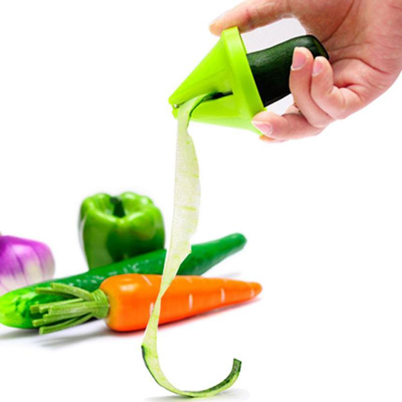 Spiral Vegetable Cutter Shred Device Cooking Salad Carrot Cutter Kitchen Tools