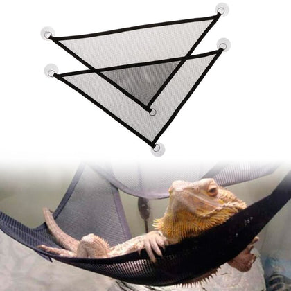 Pet Hammock Mesh Sleeping Bed Play Toys Swing Oxford Fabric For Reptile (2 Pcs/Set)
