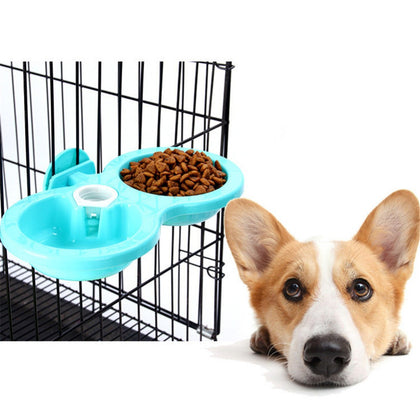 Pet Dogs Cats Hanging Dish Bowls Feeder For Cage Feeding Watering Non-toxic