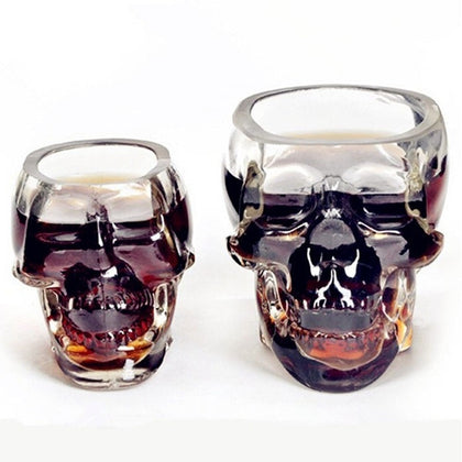 Crystal Skull Head Shot Glass Cup For Whiskey Wine Vodka Transparent Home Drinking Ware Man Gift Cup