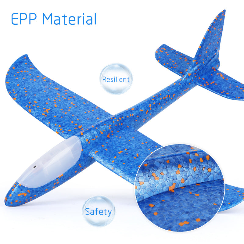 Hand Throw Airplane EPP Foam Launch fly Glider Planes Model Aircraft Outdoor Fun Toys