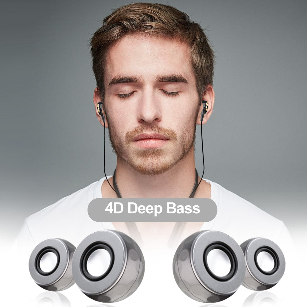 Earphone Wireless Four Unit Drive Double Dynamic Hybrid Deep Bass