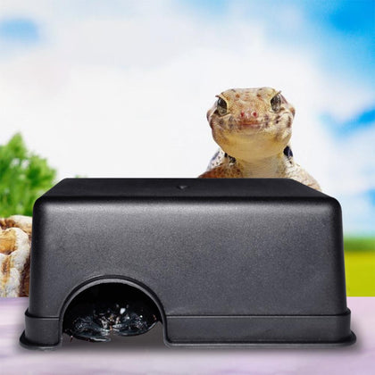 Small Reptiles Pets Toys Gecko Snake Shelter House Food Water Bowl Cave Climbing Box