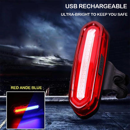 Bike Taillight Waterproof Riding Rear Led Usb Chargeable Mountain Cycling