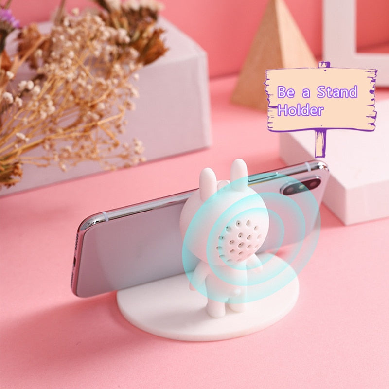 Bluetooth Speaker Cute Animal Wireless Mini Portable Pocket Stand Holder Accessories