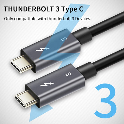PD 100W 40Gbps Thunderbolt 3 Cable Type C to C Cable