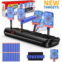 Nerf Guns Bullets Auto Reset Electric Shooting Target Accessories Kids Sound Light