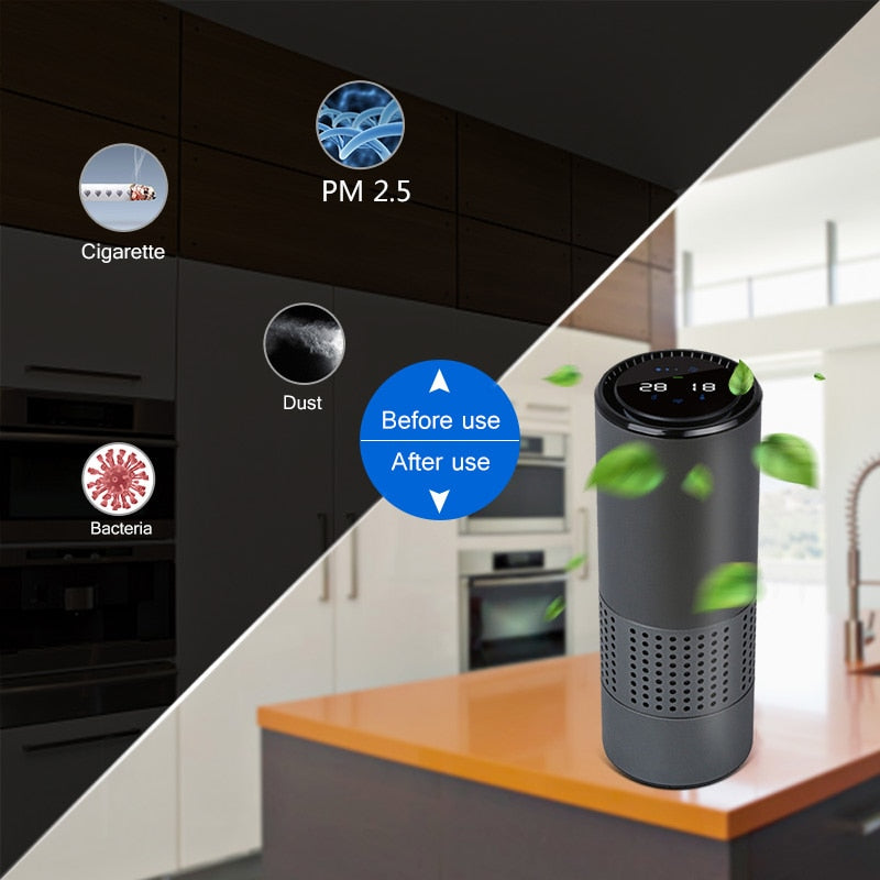 Air Purifier With Filter Fresh Air Anion Car Infrared Sensor Air Cleaner