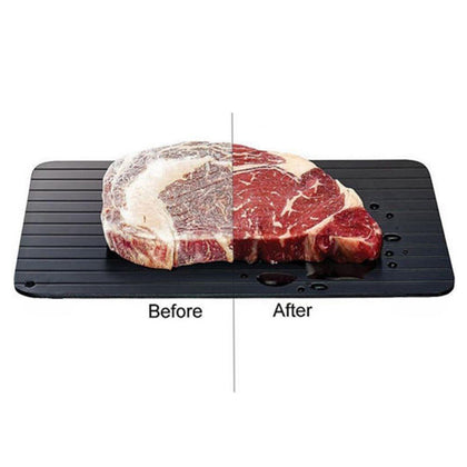 Quick Defrosting Tray Thaw Frozen Food Meat Fruit Plate Board