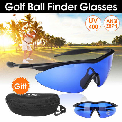 Golf Ball Finding Glasses Blue Lens Eye Protection Sport With Box
