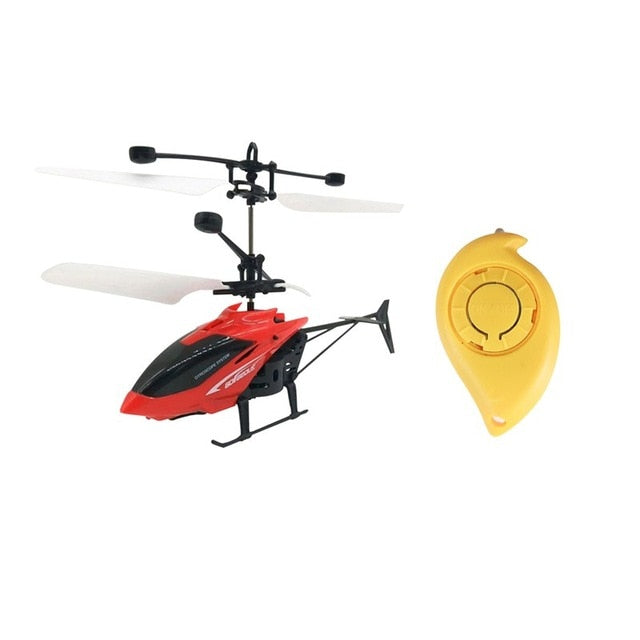 Mini RC Drone Fly Helicopter Aircraft Toy LED Light Remote Control