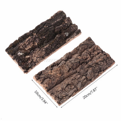 Natural Rodent Reptile Habitat Decoration Lizard Spider Hide Climbing Tree Bark
