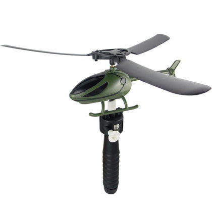 Toy Helicopter Outdoor Toys Pull String Handle