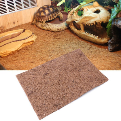 Reptile Bed Mat Tortoise Lizard Climbing Pet Coconut Palm Pad Box Landscaping