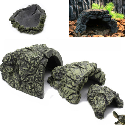 Reptile Hiding Cave Hide Rest House Basking Habitat Landscaping