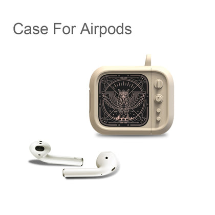 TV Style Airpods Case Silicone Soft Rubber Full Protective Cover