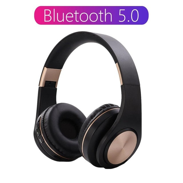 Wireless Headphone With HD MIC Headset Bluetooth 5.0 Support Tf card Foldable